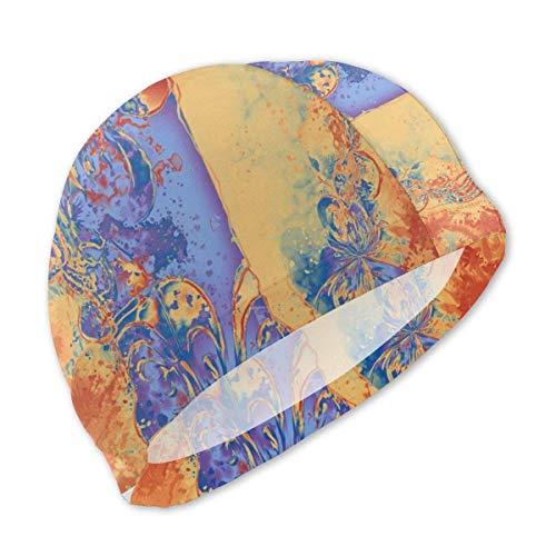 Art Deco Grunge Flowers Wallpaper Orange Blue Bear Mother I Love You Hat Turban Head Cap Skullies Hat for Boy & Girl Knit Hat Winter Warm Kids Hat