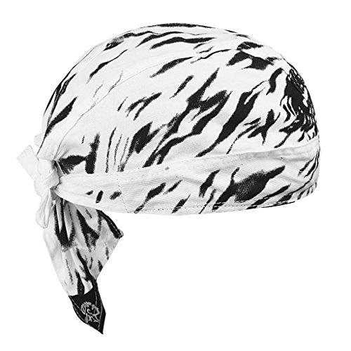 Bandana de Clyclisme Sport Coton Calotte de Vélo Moto VTT Sous Casque Anti-vent Turban Bonnet Cuisine Pirate Hip-hop Absorbe Transpiration Respirant Chapeau Foulard de Tête Extérieur pour Homme Femme