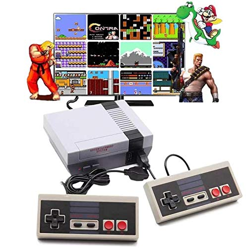 Retro Game Console,Classic Mini NES Console with Built-in 620 NES Classic Edition Games and 2...