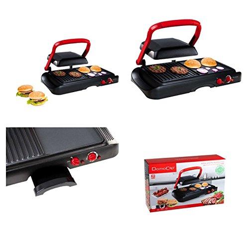Kontakt-Grill mit Deckel Sandwich-Maker mit 600 Watt (Sandwich-Toaster Multigrill, Tischgrill, Panini-Maker, Elektrogrill, Fettablauf)