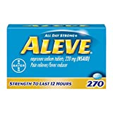 Aleve Tablets, Fast Acting All Day Pain Relief for Headaches, Muscle Aches, and Fever Redu...