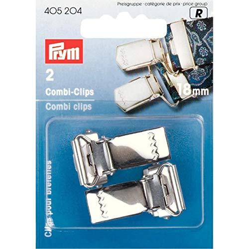 405204 - Combi-Clips ST silberfarbig 18 mm
