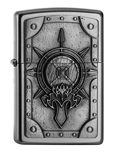 Zippo 2.005.041 Mechero de la batalla de Shield Collection Spring 2016, funda de almohada de satén de acabado