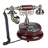 Teléfono retro vintage, compatibilidad de sistema dual, función de pausa y remarcación,...