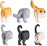 Juvale Set of 6 Cat Butt Magnets, Cute Funny Animal Refrigerator Fridge Magnet, Perfect for Animal Lover Decorative Gifts Kitchen Office Whiteboard