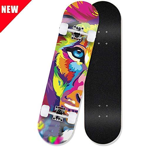 Dljyy Skateboard Casterboards 31-Zoll-Skateboards Komplett Doppel Kick-Skate-Board for Extremsport und Outdoor