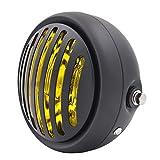 BJ Global Phare LED 61/5,1cm pour moto Vidéoprojecteur Daymaker Phare Cafe Racer Bobber