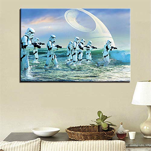Lvdmvu Art Picture HD Print Planet Movie Canvas Painting Home Decoration Poster 50x75cm Frameless