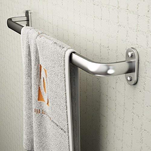 Cxcdxd Toallero de baño montado en la Pared Espacio Barra de Toalla de Aluminio Un Solo Poste Toallero Largo Toallero de baño Toallero de baño Colgante de baño Barra de Colgar Toallero