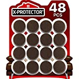 Felt Furniture Pads X-PROTECTOR - 48 Premium Felt Pads Floor Protector Brown - Chair Felts Pads for Furniture Feet Wood Floors - Best Furniture Pads for Hardwood Floors - Protect Your Wood Floors!