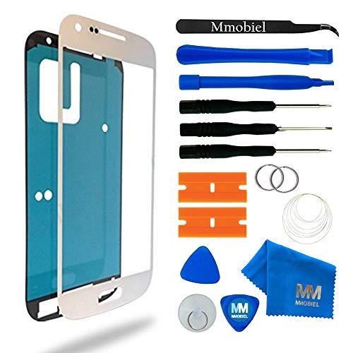 MMOBIEL Front Glas Reparatur Set kompatibel mit Samsung Galaxy S4 i9500 i9505 Series (Weiss) Display mit Werkzeug-Set
