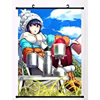 アニメの壁の巻物アニメの生地の壁の巻物のポスターホームモダンなテーマの装飾ゆるキャン△ 50x75cm