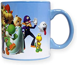 Super Mario Brothers Multi-Character Ceramic Coffee Mug, 20oz