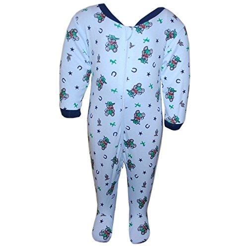 Fixoni - Schlafoverall Schlafanzug Jungen, blau, Größe 62