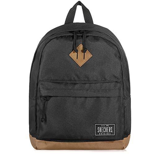 Skechers Unisex Backpack Lightweight School Bookbag Casual Daypack for Everyday S823( Black )