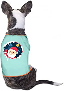 Pet T-Shirt Christmas Pet Clothes Dog T-Shirts Clothes Merry Christmas Pet Clothing for Small Dogs Kitten Vest Summer Shirt Soft Sweatshirt - (Sky Blue, Gray, Yellow, Black)