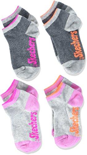 Skechers Socks Mädchen SK42003 Sportsocken, Grau (Fog 49), 31-34