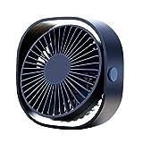Ventilatore USB Portatile da Tavolo Ultra Silenzioso con Tre Potenti velocità del Vento e...