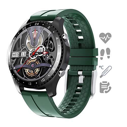 HQPCAHL Smartwatch Reloj para Android iOS con Llamada Bluetooth Monitor De Temperatura Frecuencia Cardíaca Presión Arterial Spo2 Sueño, Monitores De Actividad con 11 Deportes,D