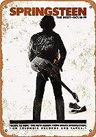Shimaier 壁の装飾 ブリキ 看板メタルサイン 1975 Springsteen at The Roxy ウォールアート バー カフェ 30×40cm ヴィンテージ風 メタルプレート