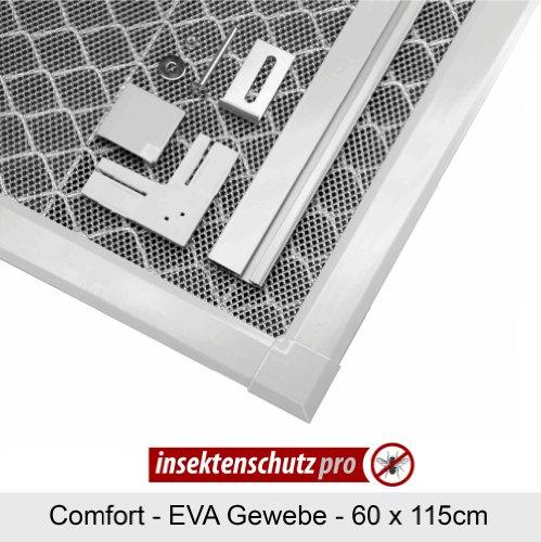 insektenschutz-pro Lichtschachtabdeckung mit flachem Alurahmen und EVA Gewebe 60 x 115cm