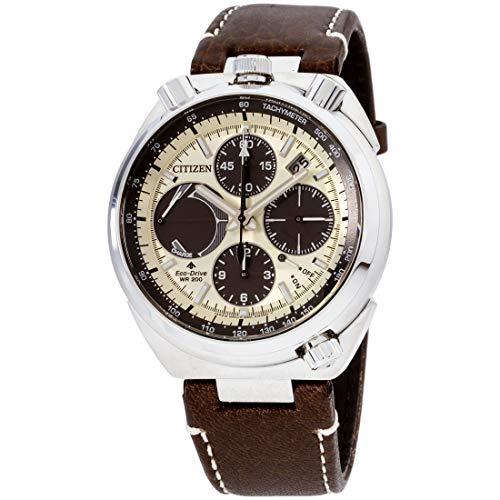 Men's Citizen Promaster Tsuno Chronograph Racer Leather Watch AV0079-01A
