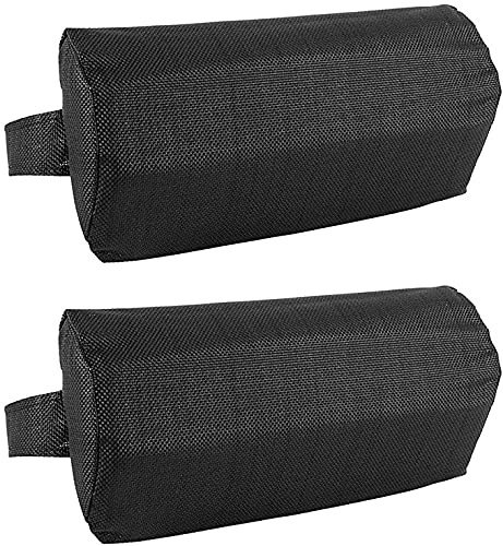 Lounge Chair Lounger Pillow, Soft Chaise Longue Pillow for Sunbathing Lounger Ergonomic Pillow Removable Lounger Headrest Cushion for Backyard, Picnics, Beach (2 Pack Black)