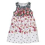Salt & Pepper Mädchen Dress Blumen Farbverlauf Kleid, Mehrfarbig (Original 099), 128 (Herstellergröße: 128/134)