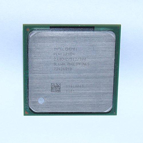 Intel Pentium 4P4Tray CPU 2.60GHz 2600MHz 800MHz 512KB sl6wh Socket 478