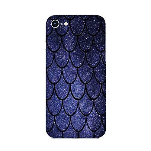 Funda iPhone 6 Carcasa Compatible con Apple iPhone 6 Cola de Sirena Escamas de Azul Noche/TPU Suave Gel de Silicona/Teléfono Hard Snap en Antideslizante Antideslizante Anti-rasguño Resistente a