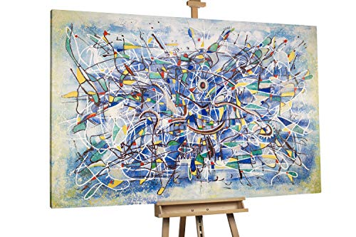 'Malerische Mystik' 180x120cm | Abstrakt Schwarz Deko XXL | Modernes Kunst Ölbild