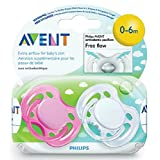 Avent Freeflow Silicone Pacifiers, 0-6 Months Girl Colors by Philips Avent [並行輸入品]