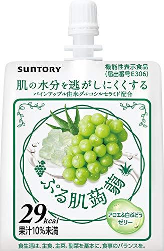 SUNTORY(サントリー)『ぷる肌蒟蒻 アロエ&白ぶどうゼリー』