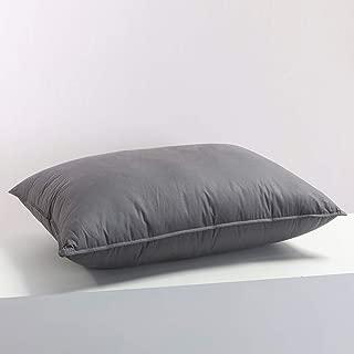Premium Siberian Goose Down Pillows for Sleeping Queen Size Bed Pillow Standard Grey 100% Egyptian Cotton Cover