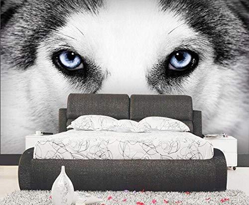Fotobehang - Animal Wolf Eye Non-Woven Muurschildering voor Premium Art Print Poster Beeld Ontwerp Moderne Slaapkamer Woonkamer Huisdecoratie 350x256 cm/137.79x100.78 inch - 7 Strips