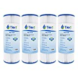 Tier1 Replacement for Dynamic 17-2327, Pleatco PRB25-IN, 817-2500, R173429, Unicel C-4326, Filbur FC-2375 Spa Filter Cartridge 4 Pack