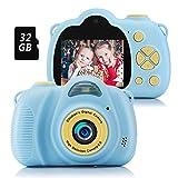 Fede Appareil Photo pour Enfant, Caméra Selfie Rechargeable Numérique pour Enfants, Ecran à 2,0 Pouces, Double Objectif HD...