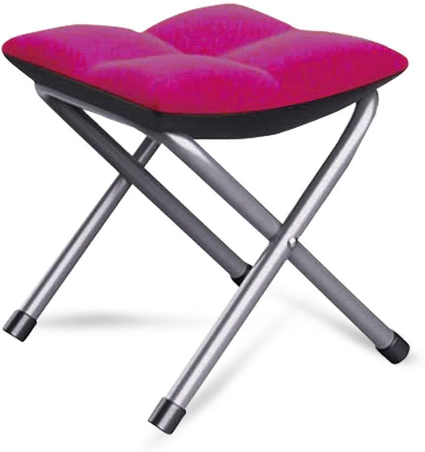Nécessités ménagères/Tabouret Pliant Chaise Pliante Amovible et Lavable Tabouret Pliant Portable (Couleur: Orange) E