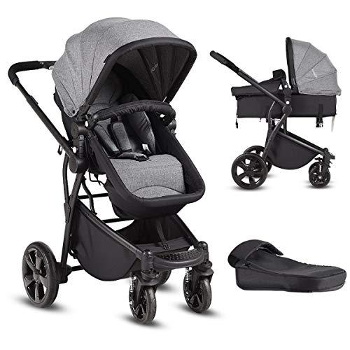 Costzon Infant Stroller, 2-in-1 Convertible Bassinet | Amazon