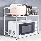 Xuping shop Rack de Cocina de Acero Inoxidable, Estante de Almacenamiento de una Capa, 53 * 36 * 52 cm