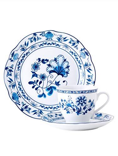 "Van Well 18tlg. Kaffeeservice""Zwiebelmuster"" blau/weiß"