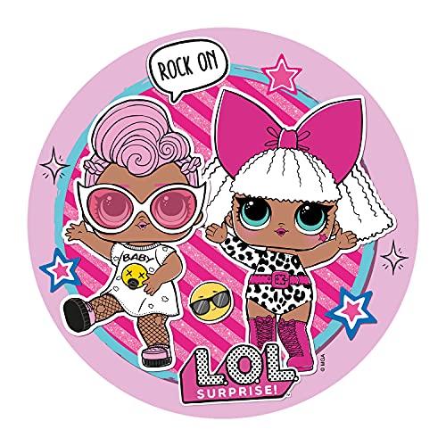 Dekora   Decoración Comestible para Tartas de Cumpleaños Infantiles   Disco de Oblea Personalizadas de las Muñecas LOL Surprise Tamaño 20 cm