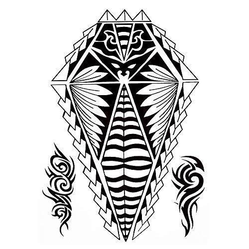 Tribal Tattoo Noir temporaire Arm Bras tatouage autocollants J520