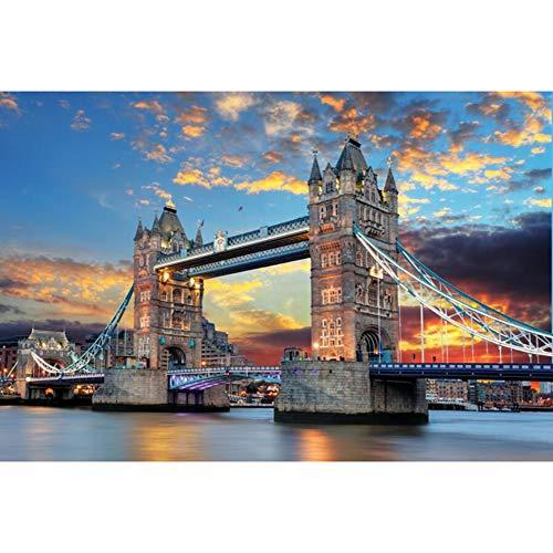 Arte de rompecabezas de madera rompecabezas 500/1000/1500/2000/3000/4000/5000/6000 piezas de la torre del puente de Londres, los niños y los adultos juegan Juguetes decoración del hogar,2000PCS