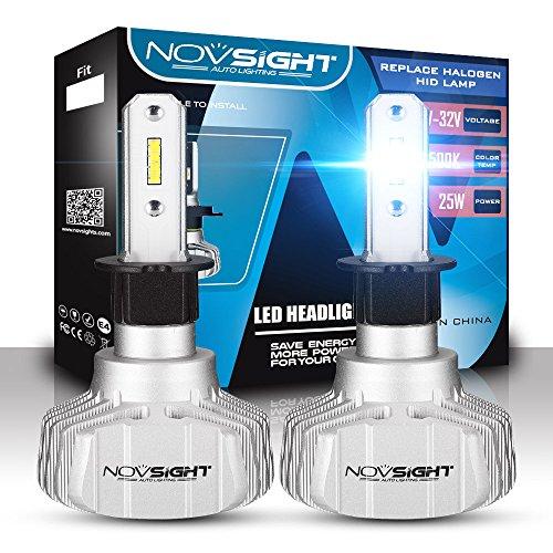 Phare De LED Kit De Conversion 50W 10000LM 6500K LED Voiture Conduite Lumière Brouillard Lampe Pour Le Remplacement De Camion De Voiture,H3