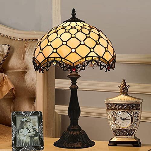 YINGGEXU Lámpara de Mesa Lámpara de Mesa de 30 cm American Dormitorio Simple Cama Luz Retro Creativo E27 Lámpara de Mesa Decoración (Color : Aolly Base, Emitting Color : Warm White)