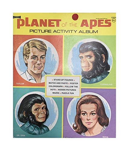 Vintage 1974 Planet Of The Apes Picture Activity Album Book Authorized Edition Mint Condition Shop Stock Room Find
