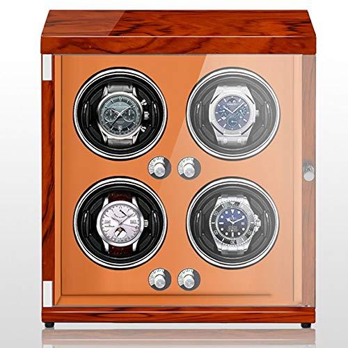 Oksmsa Automático Bobinadora for Relojes for 4 Reloj Devanado con 5 Modos De Roating Y Motor Silencioso Lámpara Led Y Anti-magnetización Reloj Caja De Almacenamiento (Color : SW-1030)