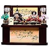 【雛人形収納飾】京三五親王飾:優月雛:伏見屋監修【雛人形】【親王飾】