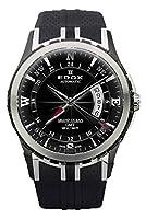 Edox グランドオーシャン GMT 自動巻き ステンレススチール メンズ ストラップ 腕時計 カレンダー 93004 357N NIN